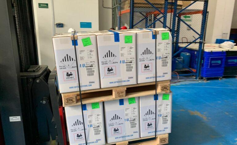 El país recibió 546.390 dosis del laboratorio Pfizer
