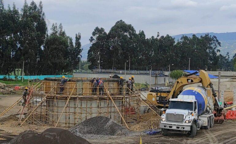 Obras de PTAR Ubaté tienen un avance del 87%
