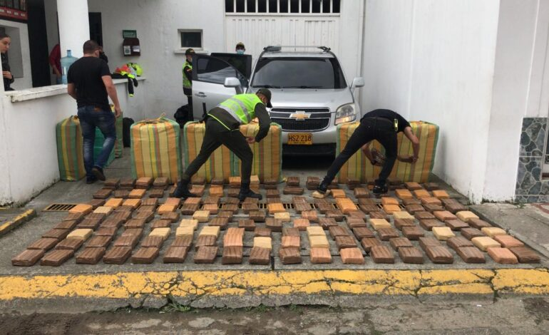Cárcel para presunto responsable de transportar más de 800 kilos de marihuana