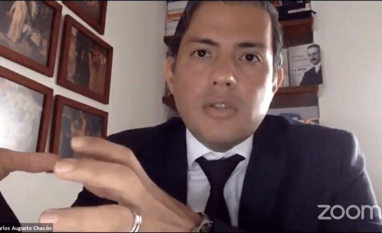 Crisis actual obedece a proyecto político: Carlos Chacón