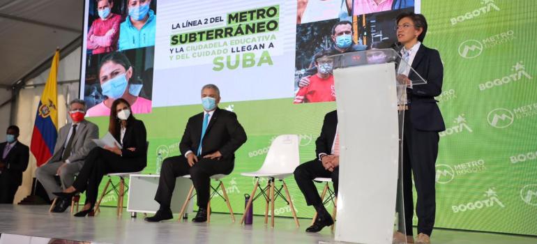 La línea 2 del Metro subterráneo y la ciudadela educativa y del cuidado llegan a Suba