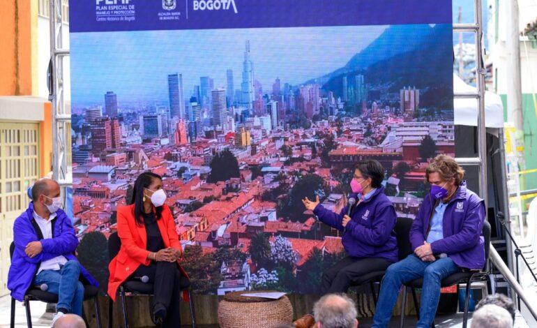 60.000 personas, entre pequeños comerciantes, artesanos y habitantes del Centro Histórico de Bogotá serán beneficiados