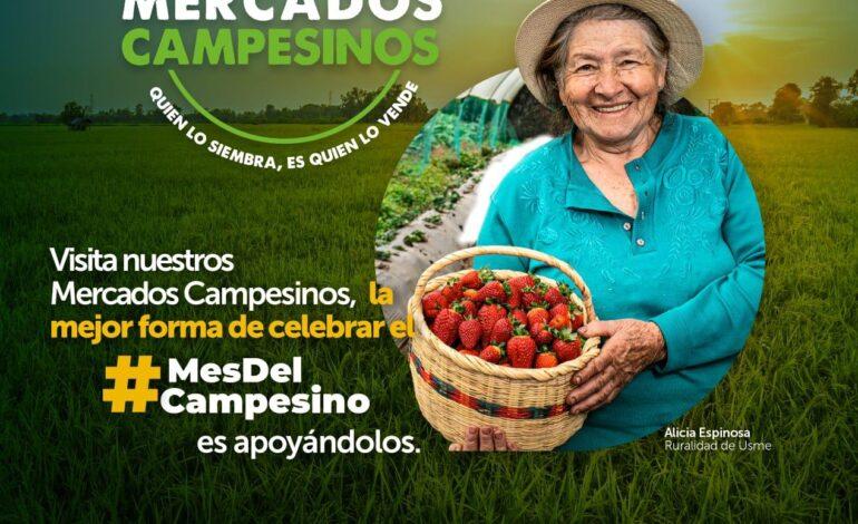 Con una nueva jornada de 'Mercados Campesinos', Bogotá celebra el Mes del Campesino