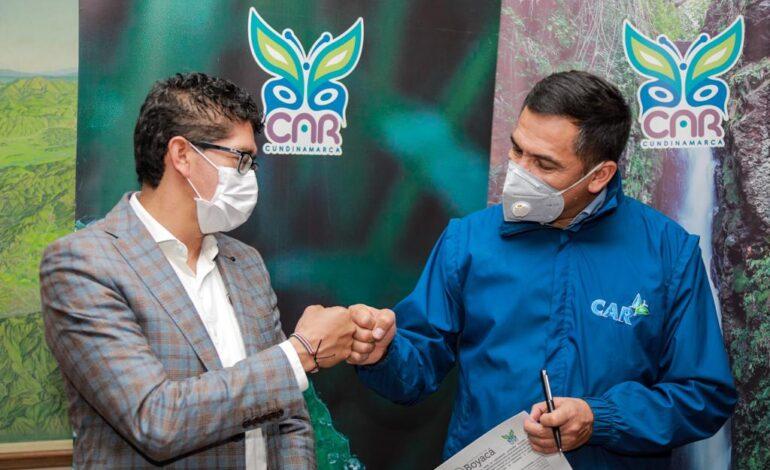 CAR y Gobernación de Boyacá firman convenio para desarrollo de proyectos ambientales