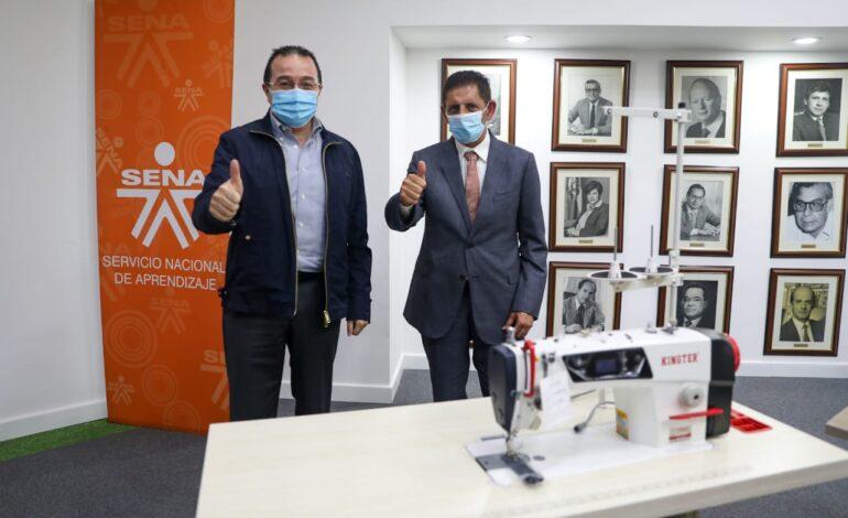 SENA recibe donación de máquinas y materiales para la confección por parte de la embajada de los Emiratos Árabes Unidos