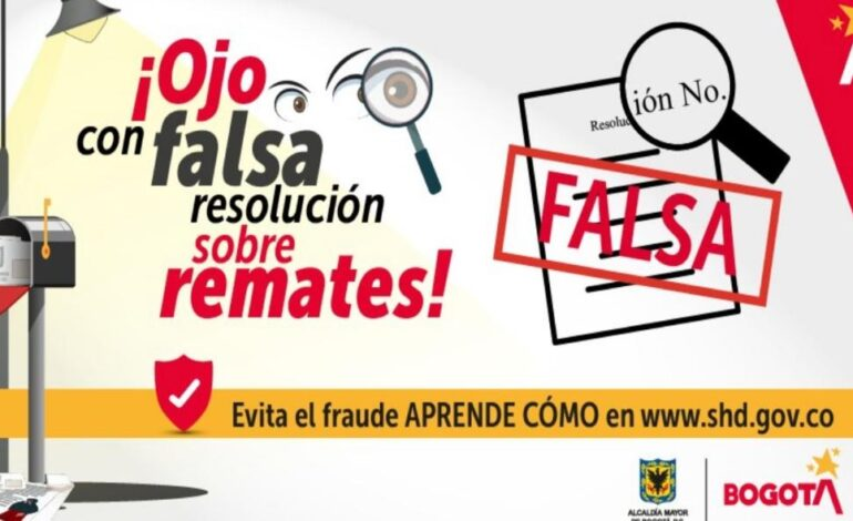 Secretaría de Hacienda alerta sobre falsa resolución de remates