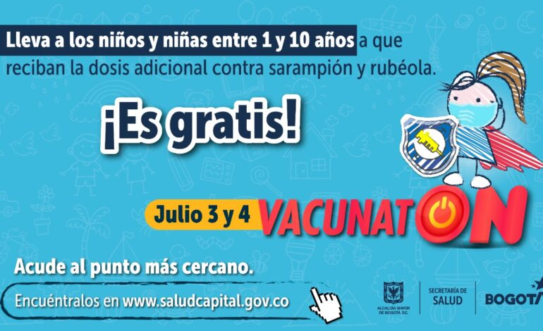 Gran 'Vacunatón' en Bogotá para ponerse al día en la inmunización de niños y niñas