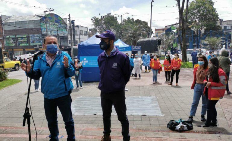 Avanza la intervención en 10 zonas con mayor riesgo de dispersión del Covid-19 en Bogotá