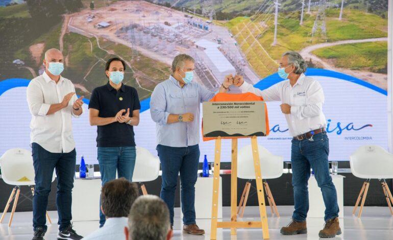Hoy estamos lanzando el proyecto de interconexión eléctrica más importante en la historia de Colombia: Duque