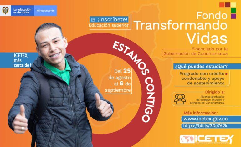 Jóvenes de Cundinamarca podrán cursar su pregrado con crédito no reembolsable