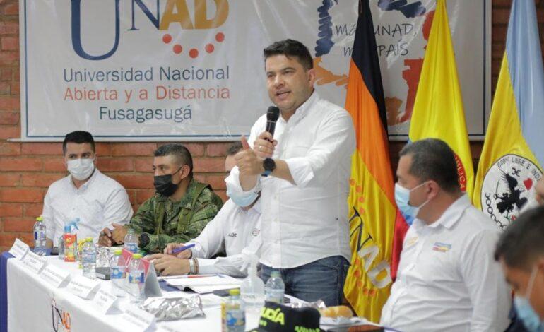 Fuerte ofensiva contra inseguridad en Fusagasugá anuncia Gobernador Nicolás García