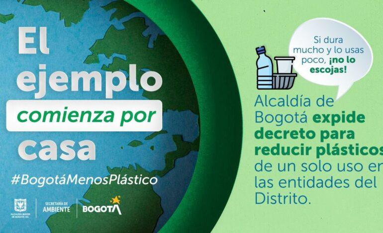 Alcaldía de Bogotá expide decreto para reducir plásticos de un solo uso en entidades del Distrito