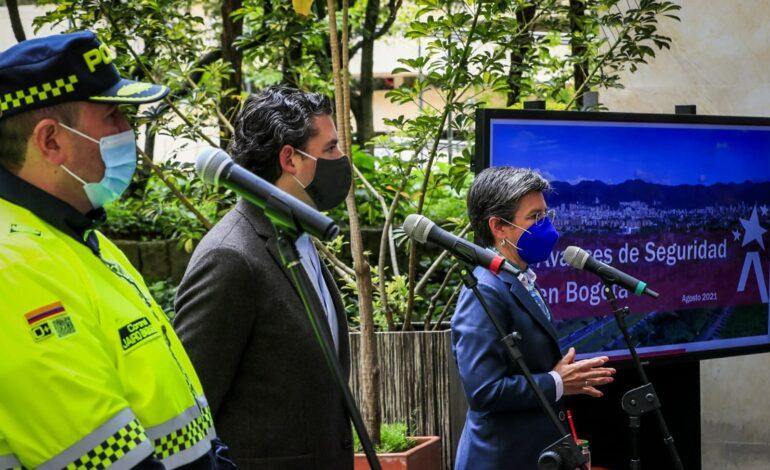 Varios delitos con tendencia a la baja en Bogotá