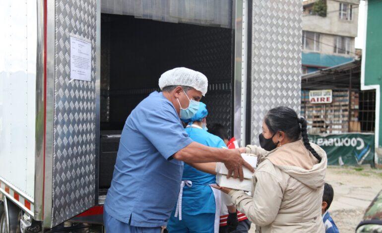 Nueva modalidad de entrega de comida caliente a población en extrema pobreza en Bogotá