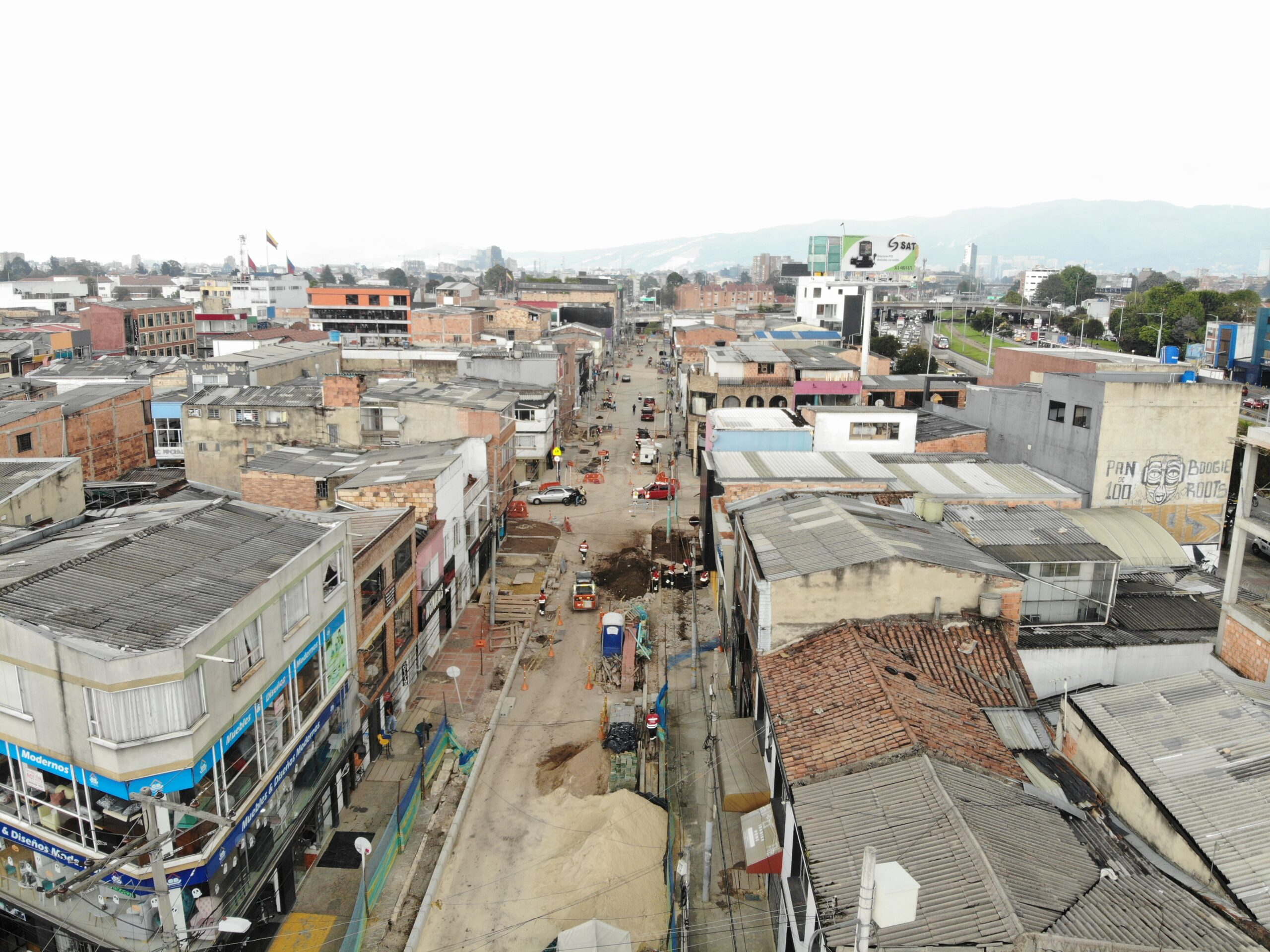 Calles Comerciales en Barrios Unidos beneficiarán a medio millón de personas